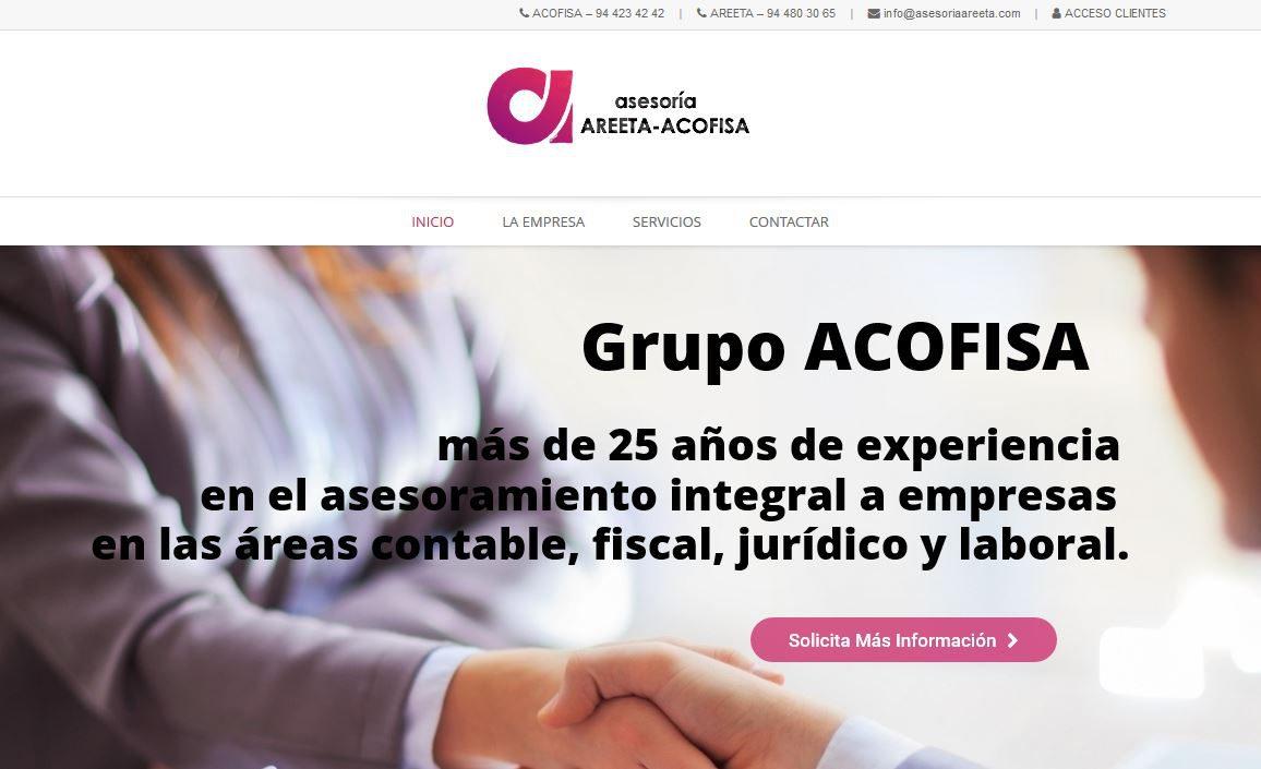 Nueva página web de Asesoría Areeta - Acofisa