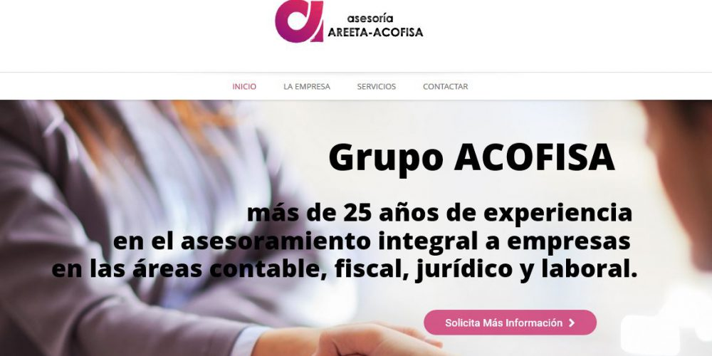 Nueva página web de Asesoría Areeta – Acofisa